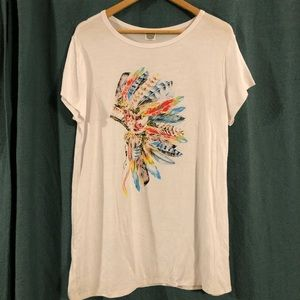 Color Bear t-shirt Indian Head dress